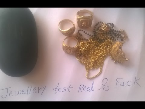 gold jewellery test Fake or Real 22 carat Gold jewellery very eazy