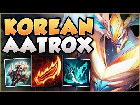 WTF?? HOW BROKEN DID THIS KOREAN BUILD MAKE AATROX? AATROX SEASON 8 TOP GAMEPLAY! League of Legends