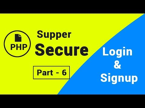 Supper secure login & signup in PHP