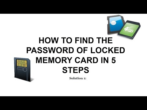 How unlock password protected Memory card
