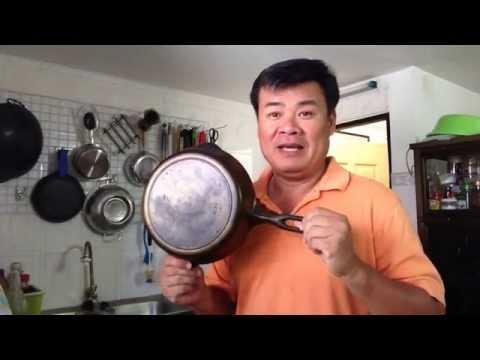 Korean pancake in cast iron skillet