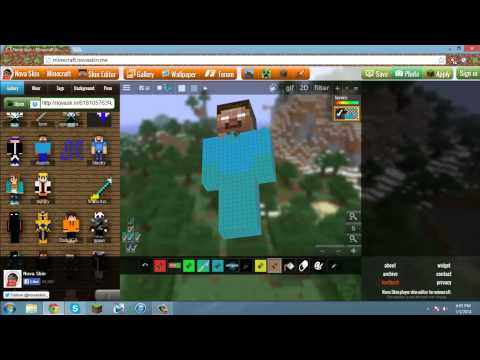 How to Make Your Own Minecraft Skin ( No Download )