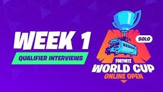 Fortnite World Cup - Week 1 Qualifier Interviews