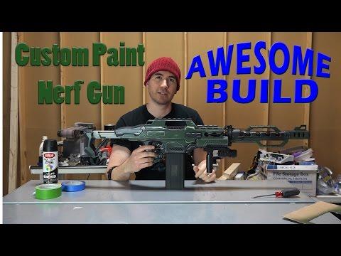 Custom Paint Nerf Gun - Awesome Build