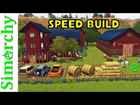 The Sims 3 Speed Build - Horse Ranch Estate - Country Home Only Pets & Seasons Expansion Pack House
