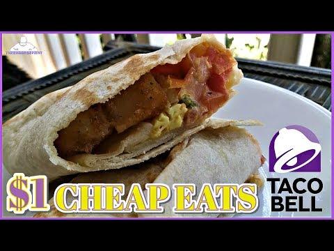 TACO BELL® | GRILLED BREAKFAST BURRITO FIESTA POTATO REVIEW! | CHEAP EATS