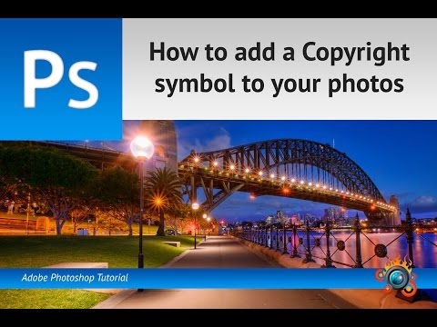 How to add a Copyright symbol to your photos