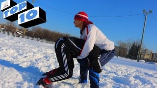 TOP 10 WWE MOVES IN THE SNOW