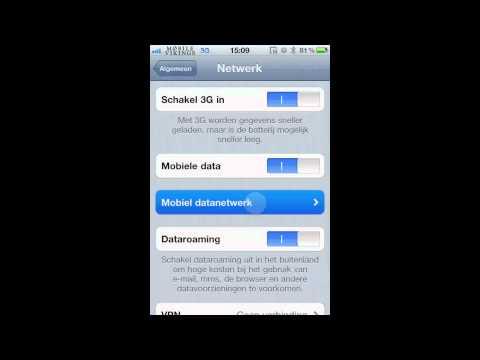 APN iPhone instellingen (Dutch)