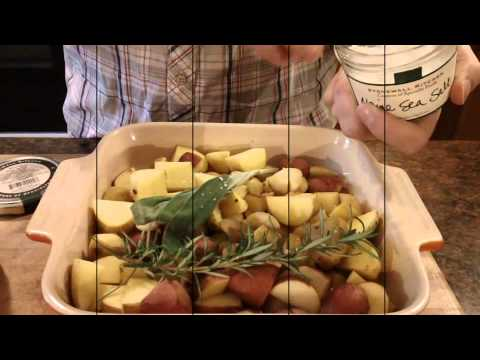 Roasted Garlic Potatoes with Rosemary