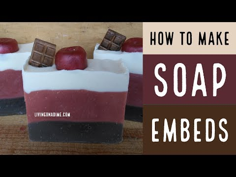 How to Make Soap Embeds/ How to Make Soap Without Lye