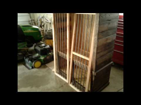 Pallet Wood Gun Cabinet one of a kind!