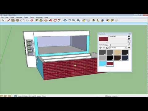 How to create materials in Google SketchUp