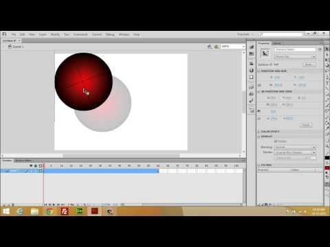 Adobe Flash Professional CS6 Tutorial 04 Rotation Animation