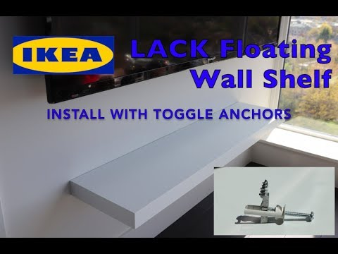 Ikea LACK Floating Wall Shelf Install with Driller Toggle Anchors