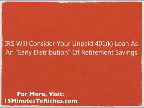 Can I Rollover 401k With Unpaid Loan