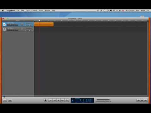 GarageBand Tutorial 1: Edit an Audio File
