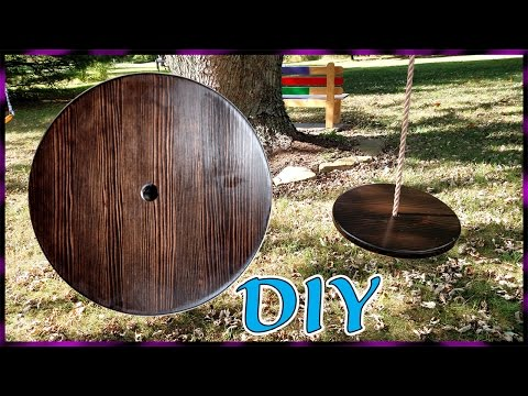 Round Disc Tree Swing   Summers Woodworking 2x4 Challenge 2016