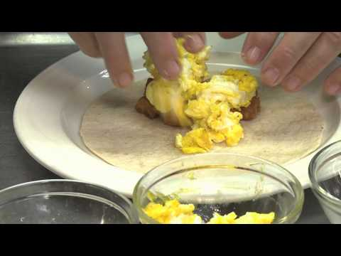 Recipe for a Potato, Egg & Cheese Burrito : Egg Recipes