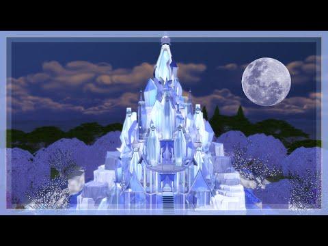 The Sims 4 - Elsa's Frozen Castle Speed Build