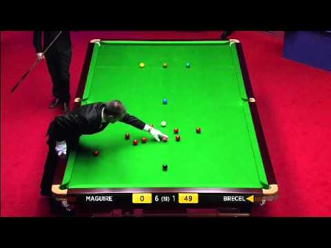 17 years Young star Luca Brecel impresses with 116 break. world championship 2012
