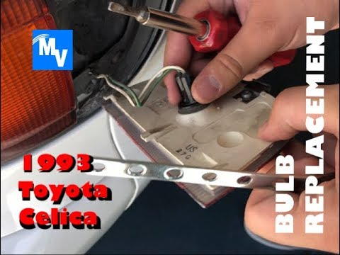 How to swap out a Toyota Celica rear side light bulb including part number