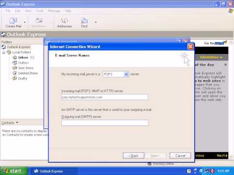 How To Configure Outlookexpress In Windows XP