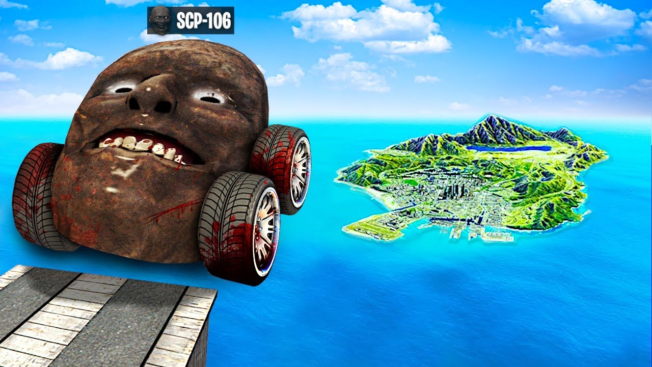 Jumping SCP CARS Across The ENTIRE MAP In GTA 5.. (Mods)