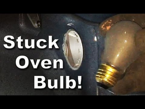 How to Change Stuck Oven Light Bulb Whirlpool Stove Model Number WFE515S0ES0