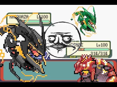 Mega Rayquaza in Pokemon Emerald! + Download Link