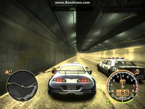 Need for speed most wanted 2005 toyota supra vs police
