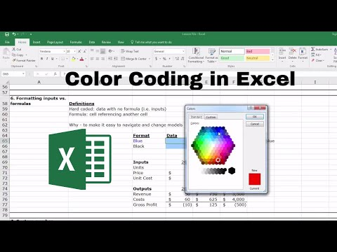 Color Coding Data in Excel: Inputs vs. Formulas