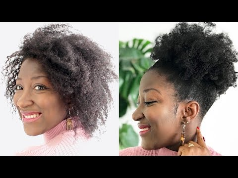 How To Make Thin/Fine Hair Appear Thicker || High Puff on thin hair || Adede ||