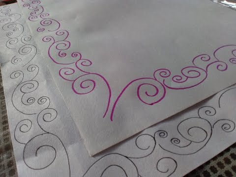 Amazing Design | How to draw simple border designs for project files | quick and easy