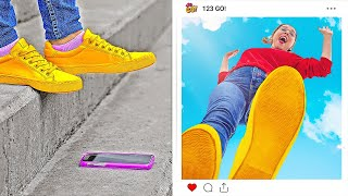 FUN AND CREATIVE PHOTO IDEAS FOR GIRLS || DIY Instagram Photo Hacks And Tricks by 123 GO!