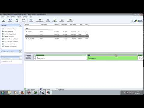 Merge two hard disk drive without loss of data