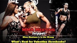 MMA Meeting Snippet: Nicco Montano is in the Wrong and What