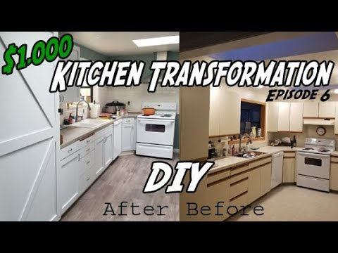 Installing Shaker Cabinet Doors   How to Reface Kitchen Cabinets DIY
