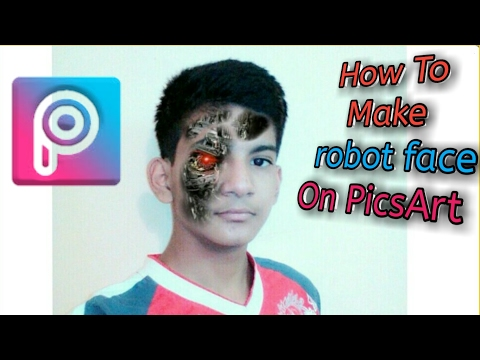 PicsArt Editing Tutorial | How To Make robot face On PicsArt | Art | #4