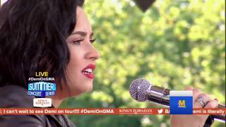 Demi Lovato ( HOLDS  A NOTE FOR 13S!! ) - Stone cold & Brad Paisley (GMA 2016)  She