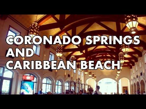 Disney's Coronado Springs and Caribbean Beach Resort Overview