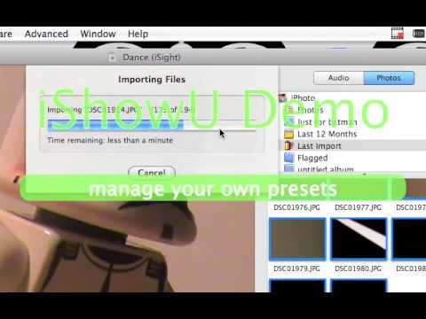 How to make stopmotions on iMovie 08