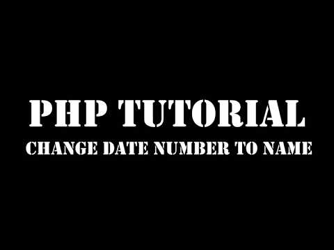 PHP Date Convert Number To Month Name