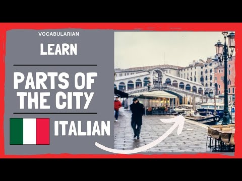 Parts of the City in ITALIAN. 🏢 le parti della città in inglese
