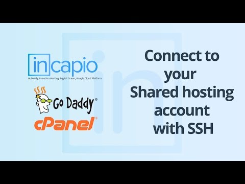 Connect to your shared hosting account with SSH | cPanel | GoDaddy | 2018