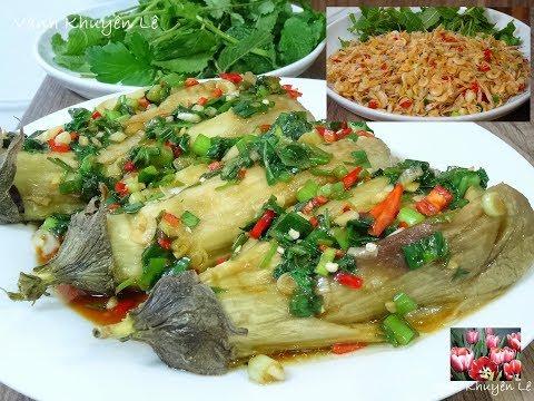 Cà nướng - Tép rang - Cách làm món Cà tím nướng Mỡ Hành và Tép rang - Airfryer by Vanh Khuyen