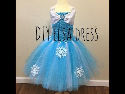 How to make an Elsa tutu dress