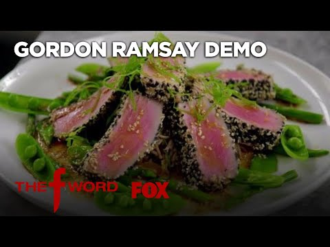 Gordon Ramsay Demonstrates How To Cook Delicious Sesame Crusted Tuna   Season 1 Ep. 10   THE F WORD