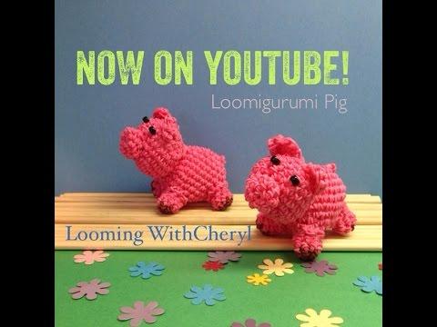 Rainbow Loom PIG - Loomigurumi - Amigurumi Hook Only Лумигуруми