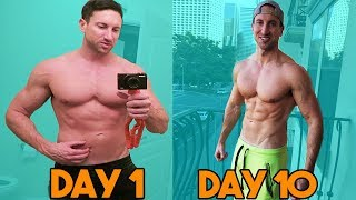 CHUBBY Gut to SHREDDED Cuts | 10 Day Fat Loss Transformation Eating Candy Daily!